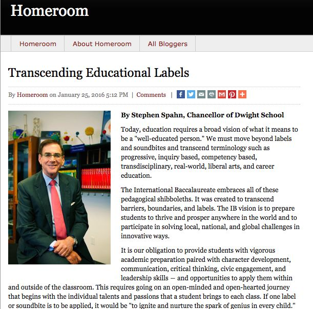 Latest Educational News Update: Chancellor Stephen Spahn Pens Opinion Piece For Education