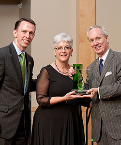Winner of the 2012 University of Vermont Distinguished Service Award: Paula Oppenheim Cope '71