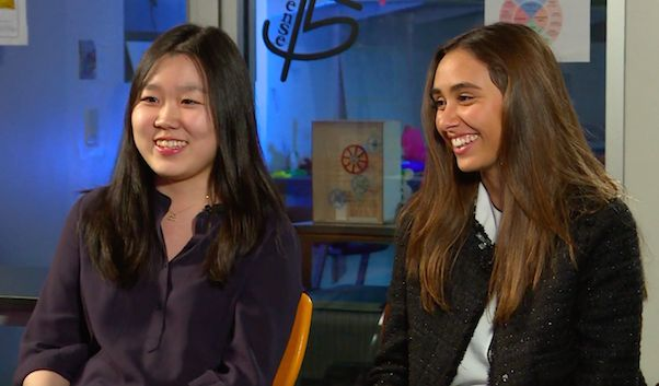 Channel One News Spotlights Juniors Michelle Rhee and Madalena Teles for Spark Tank Success