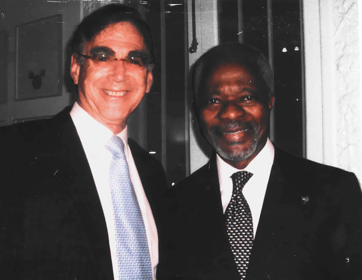 a hero u0026 39 s journey  chancellor stephen spahn remembers kofi annan