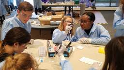 Students Don Lab Coats for Hands-on Learning at Pfizer Research Center