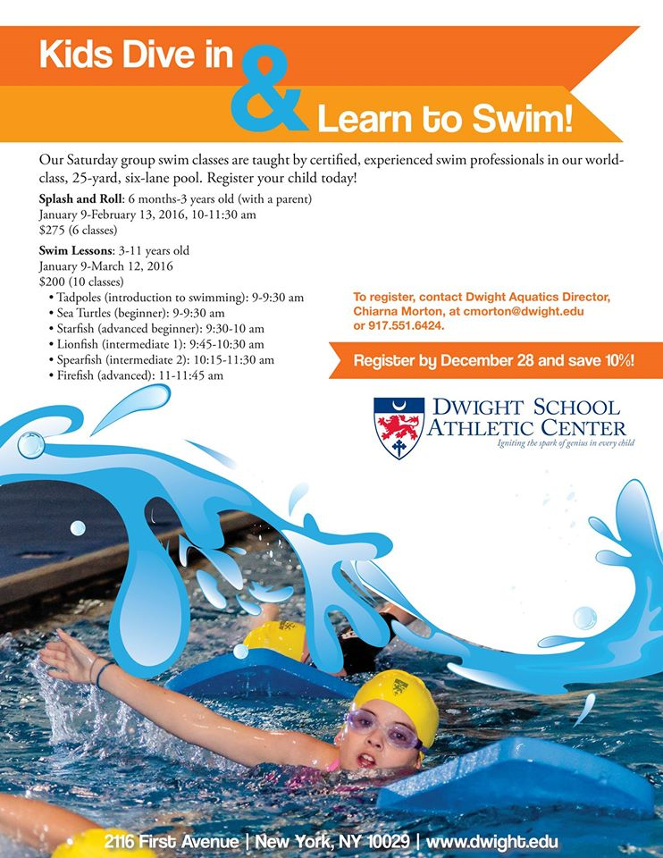 New York City Swimming Lessons Dwight School Athletic Center On The Upper East Side