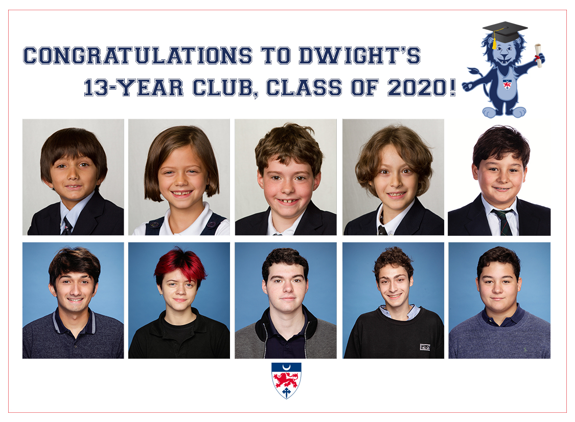 Dwight's 13-YEAR Club Welcomes Five New Members!
