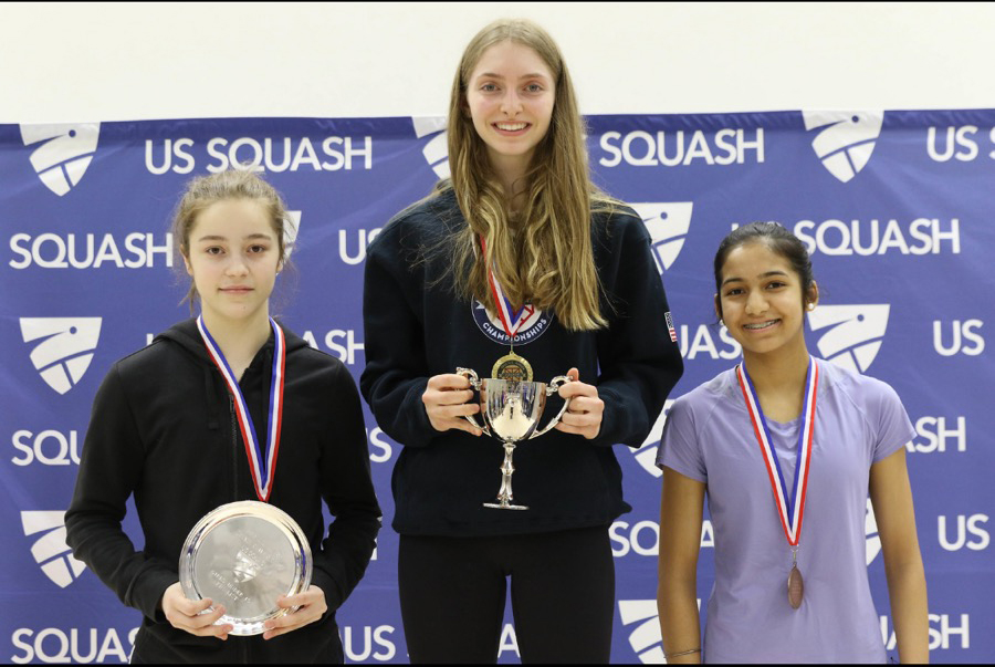 Mika Bardin '23 Is at the Top of Her Game — Squash — Literally!