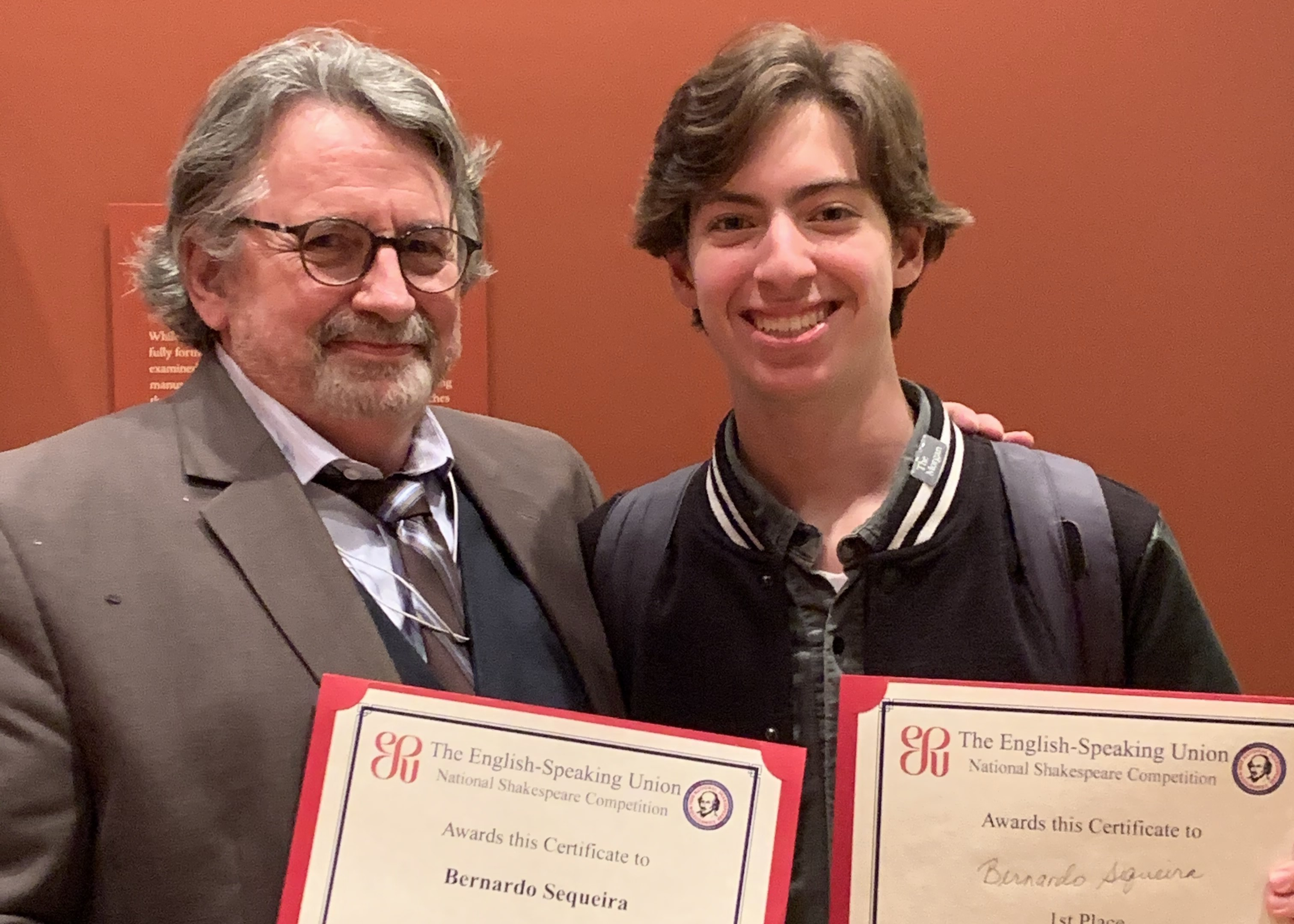 Bernardo Sequeira '22: #1 in NYC's Shakespeare Monologue Competition!